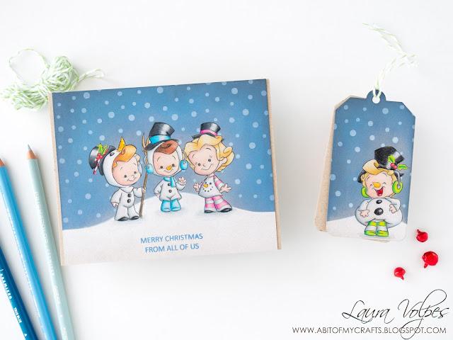 Christmas-card-and.tag-set-CC-Designs-Robertos-Rascal-Snowmen-Kids