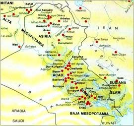 Mapa de Mesopotamia