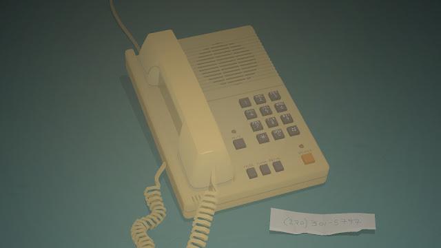Screenshot of a telephone from Kentucky Route Zero