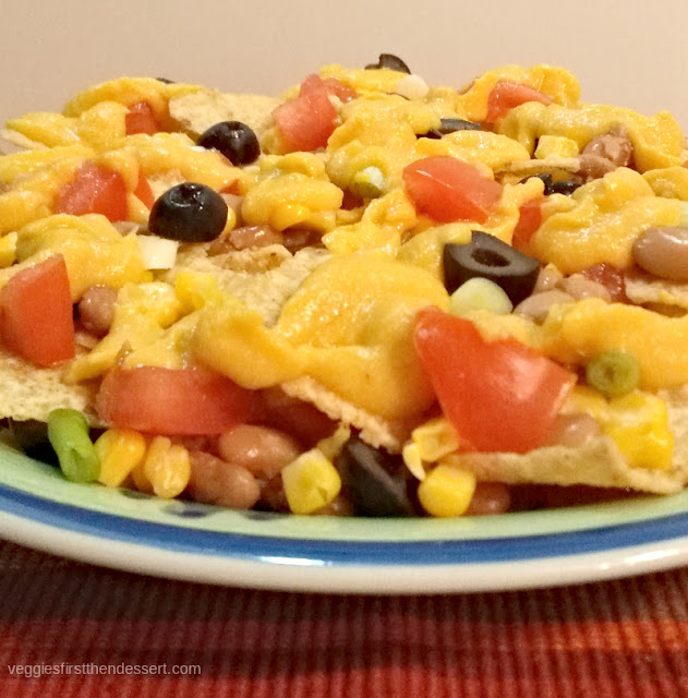 Vegan Nachos: Veggies First Then Dessert