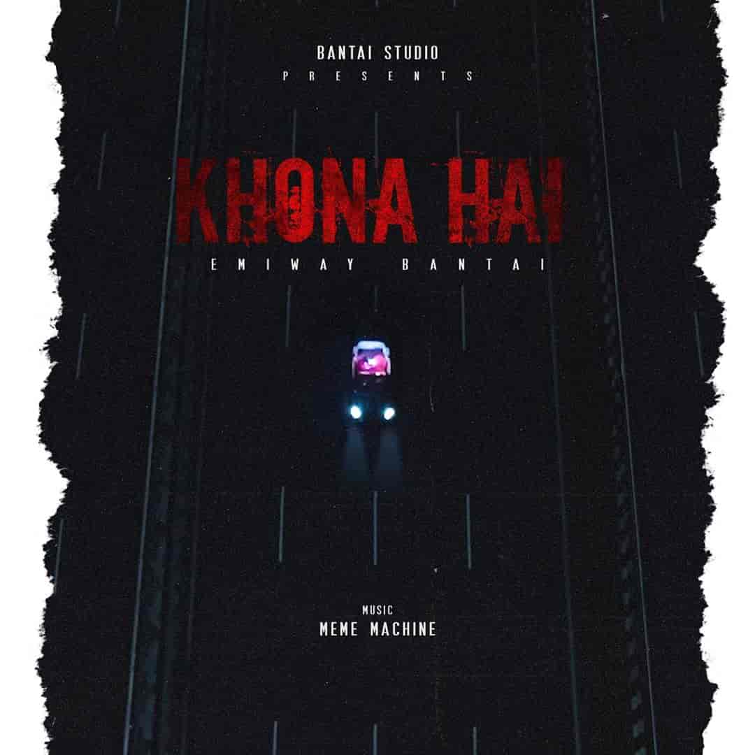 Khona Hai Rap Song Image Features Emiway Bantai