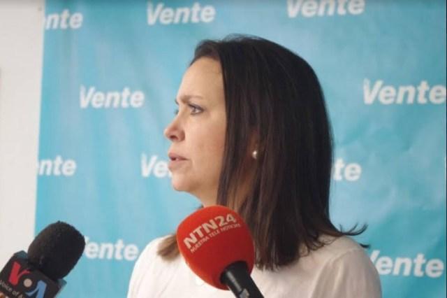 """VENEZUELA:  María Corina Machado: """"esa no es la oposición venezolana y todo el mundo lo sabe""""."""