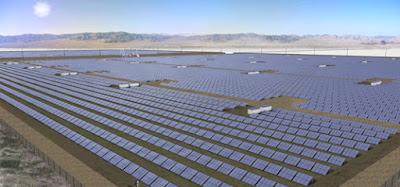 Solar Farm in Sahara Desert
