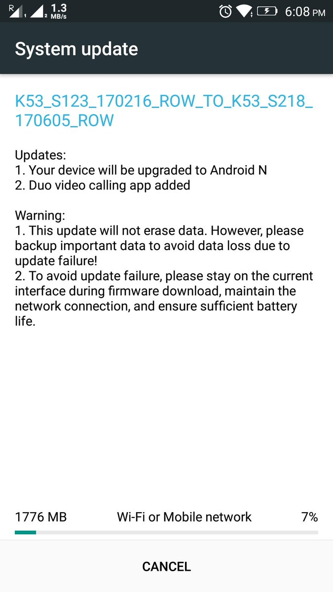 Lenovo K6 Note gets Android 7 0 Nougat Update in India - Tech Updates