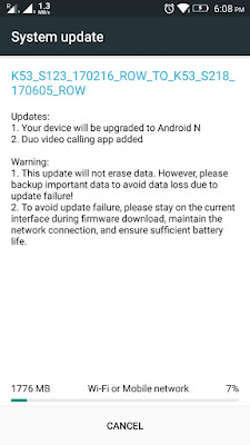 Lenovo K6 Note gets Android 7.0 Nougat Update in India
