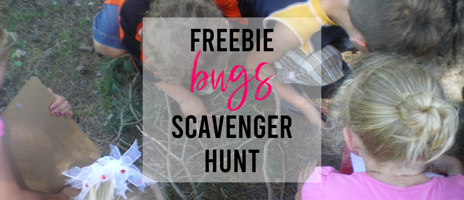 FREE bug scavenger hunt outdoor activity for Kindergarten and First Grade