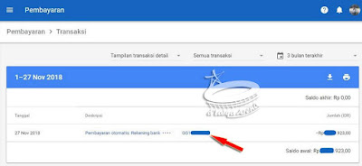 klik kode nomor pembayaran