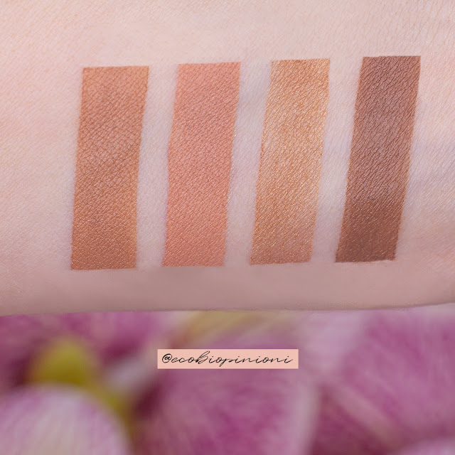 Swatches bronzer Neve Cosmetics Star System