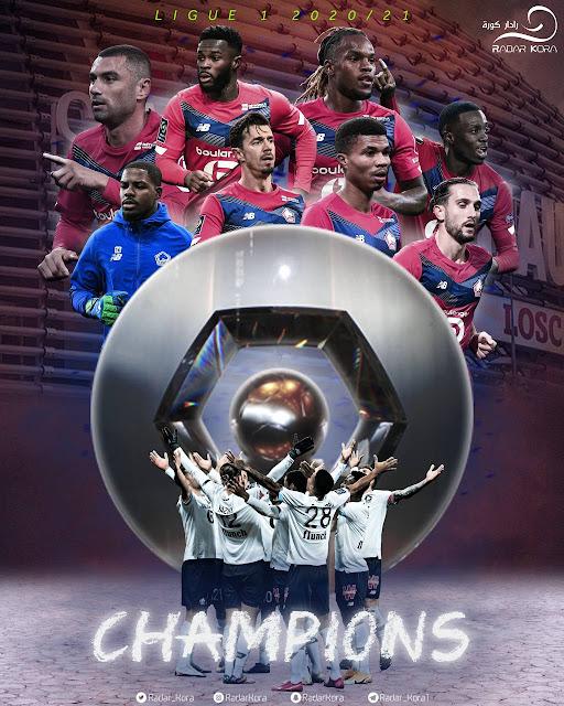 ليل بطل الدورى الفرنسي 2022