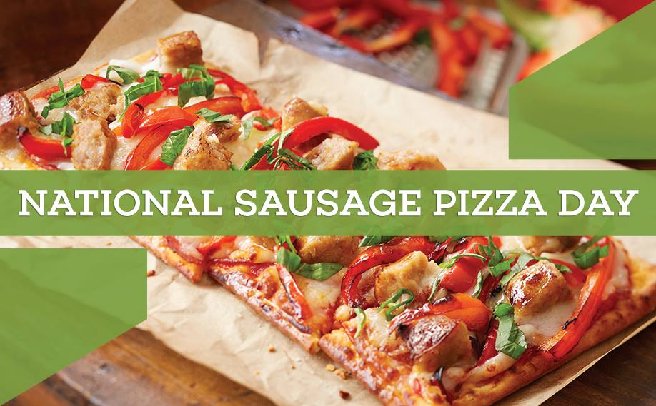 National Sausage Pizza Day Wishes Beautiful Image