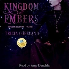 Audiobook cover for Kingdom of Embrs by Tricia Copeland.