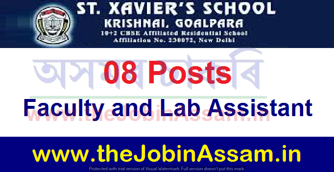 St. Xavier's School, Krishnai Vacancy 2021