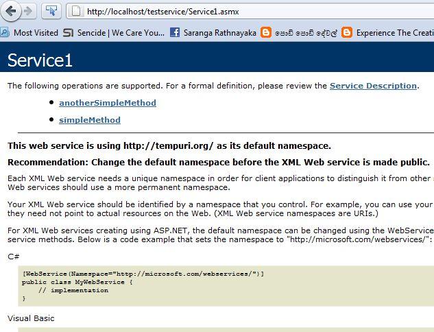 Create Simple Web Service with Visual Studio ~ Experience