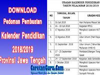 Download Kalender Pendidikan 2018/2019 Dan Pedoman Penyusunan Untuk Provinsi Jawa Tengah