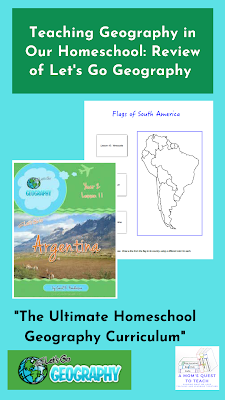 Flag page of South American and cover page of Argentina Lesson Plan from Let's Go Geography