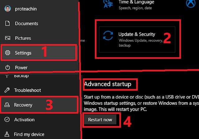 تعديل ويندوز 10 للاقلاع على تقنية UEFI