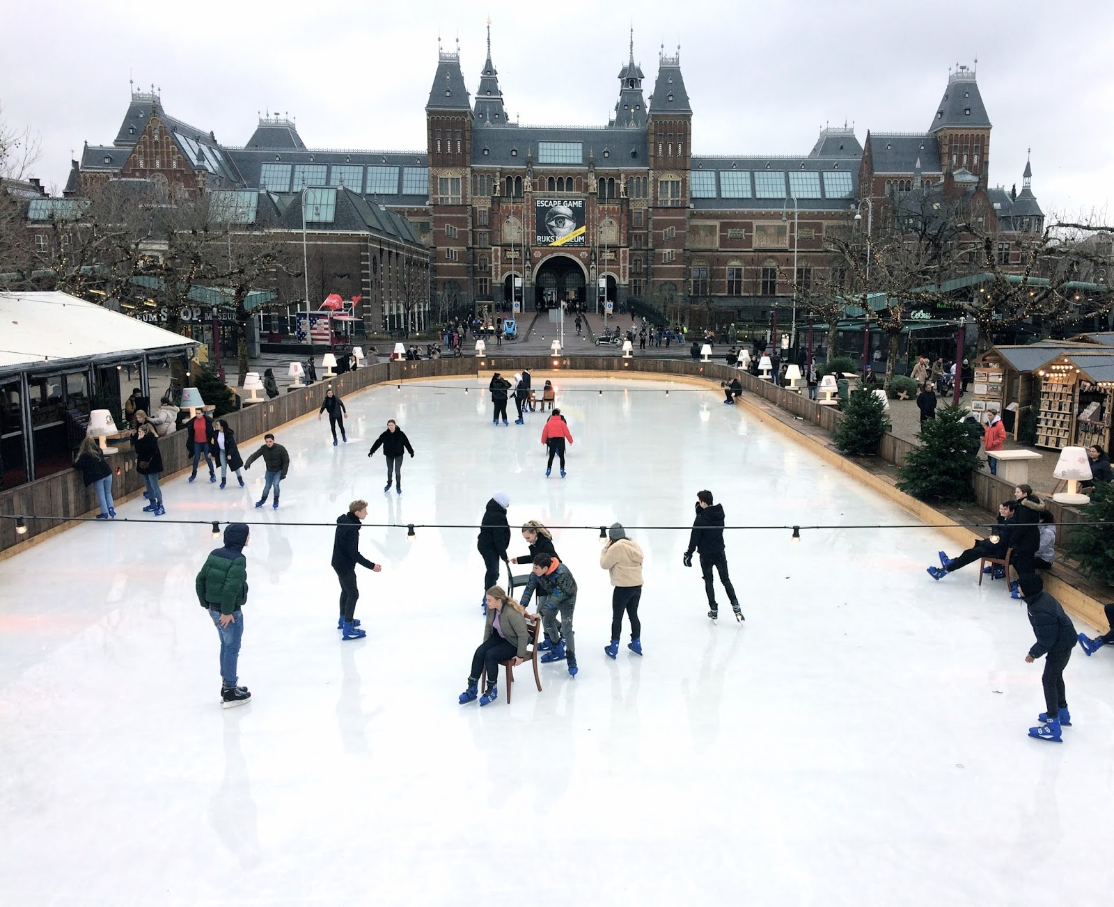 Ice skating in Amsterdam Museumplein