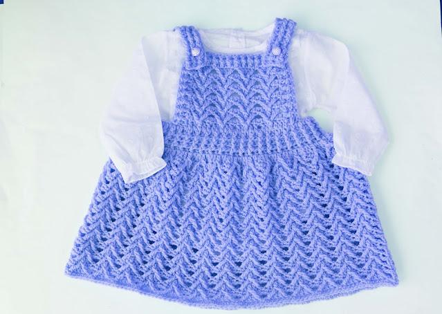 4 - Crochet Imagen Falda con peto a crochet y ganchillo por Majovel Crochet