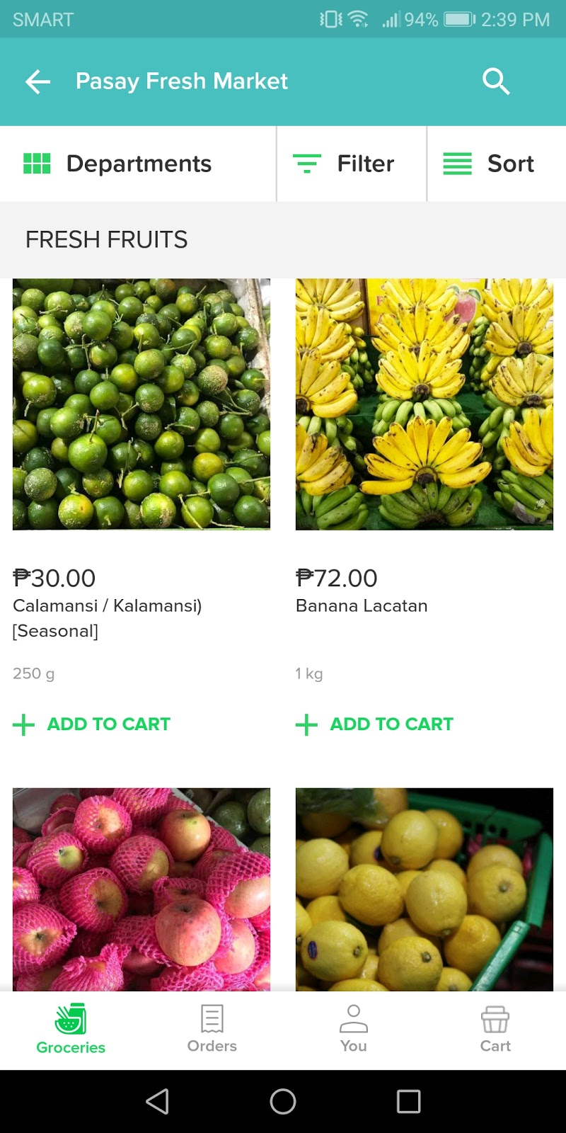 fruit slection using honest bee mobile app