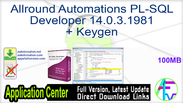 Allround Automations PL-SQL Developer 14.0.3.1981 + Keygen