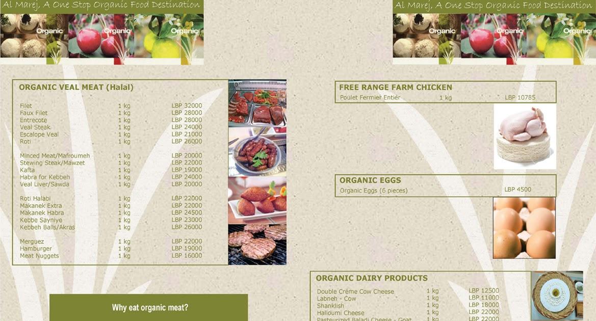 Food Brochure Examples 101greatbrochures Of Brochure