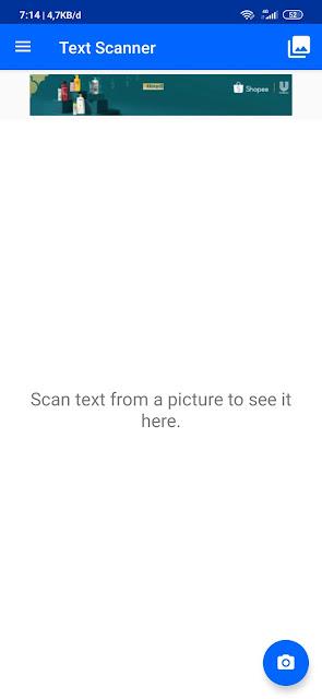 cara scan teks pada gambar