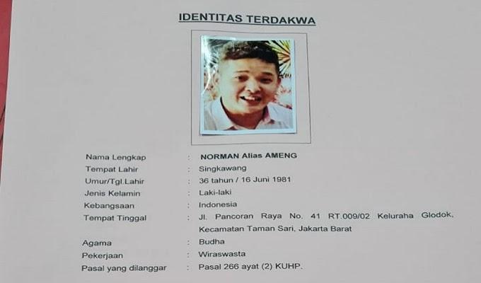 Terdakwa Norman alias Ameng Menghilang saat Akan Dieksekusi Kejari Jakut, Masyarakat Mohon Bantu Informasi