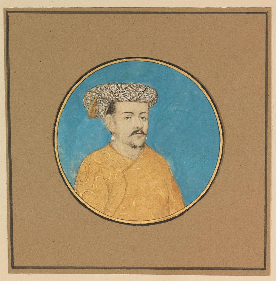 Potrait of a Man - Miniature Painting, Deccan, 18th Century