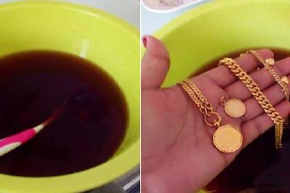 Tak Perlu Ke Toko Emas, Cukup Rendam Air Teh !! Perhiasan Emas yang Kusam Kembali Berkilau Seperti Baru