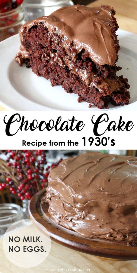 1930's Einkorn Chocolate Cake