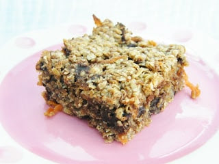 Scottish Carrot, Banana and Chocolate Chip Flapjack