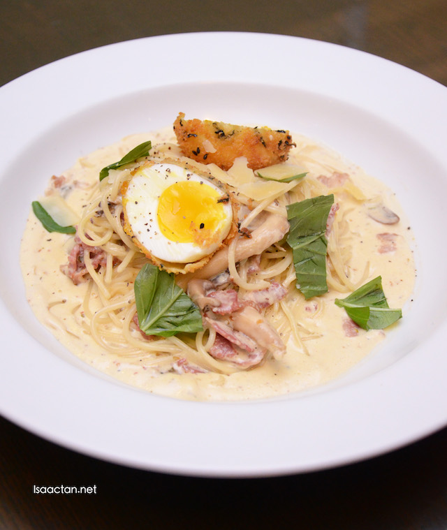 Carbonara with Seaweed Egg - RM28