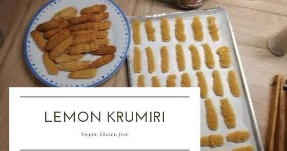 Krumiri al limone. Vegan, gluten free.