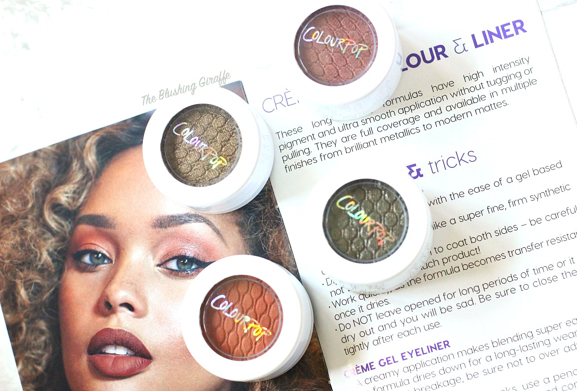 colourpop eyeshadow elixir, brandy, hammered, 8 track, review and swatch