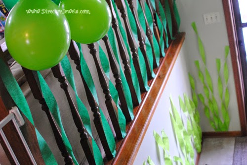 Balloon Kelp Forest | Octonauts Birthday Party Decoration Ideas | Under the Sea Decor at directorjewels.com