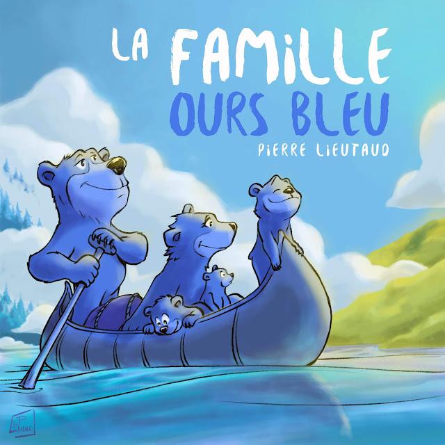 illustration ours bleu conte histoire jeunesse enfant LePueblo