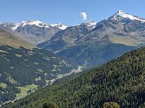 View from the trail over Santa Caterina di Valfurva.
