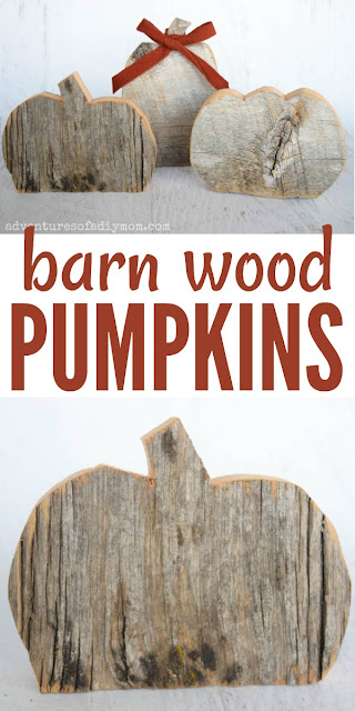collage of pictures of pumpkins made from barn wood