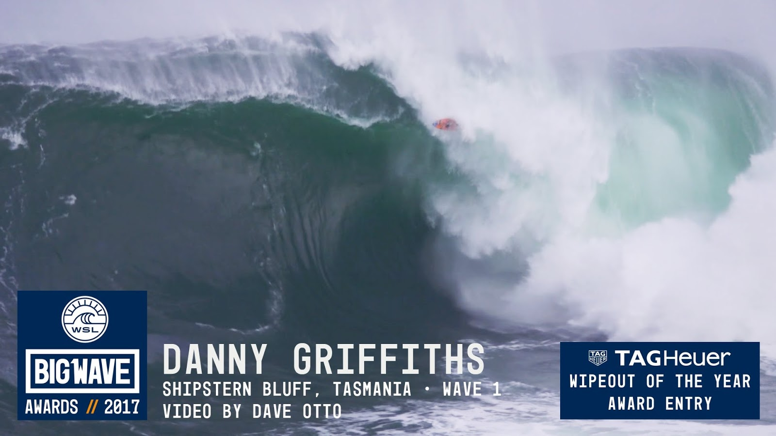 Danny Griffiths at Shipstern Bluff - 2017 TAG Heuer WIpeout of the Year Entry - WSL Big Wave Awards