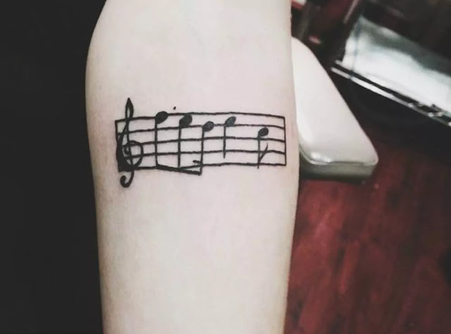 Music Staff Tattoo Designs For Men Musical Pitch Ink Ideas
