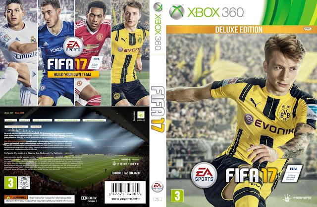 Capa Fifa 17 Deluxe Edition Xbox 360