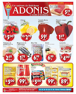 Marche Adonis Canada Flyer February 22 - 28, 2018