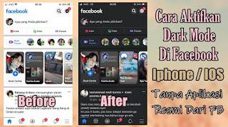 Cara Mengaktifkan Dark Mode / Mode Gelap Di Aplikasi Facebook IOS