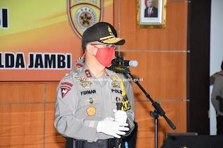 Kapolda Pimpin Upacara Sertijab Dirpamobvit dan Pelantikan Dirresnarkoba