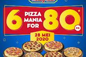 Promo Dominos Pizza Beli 6 Pizza Rp 80 Ribu Hanya Hari Ini!