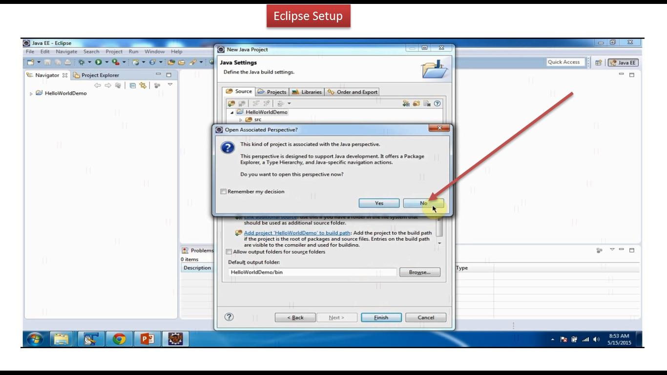 Java ee java tutorial eclipse setup java tutorial eclipse setup baditri Images