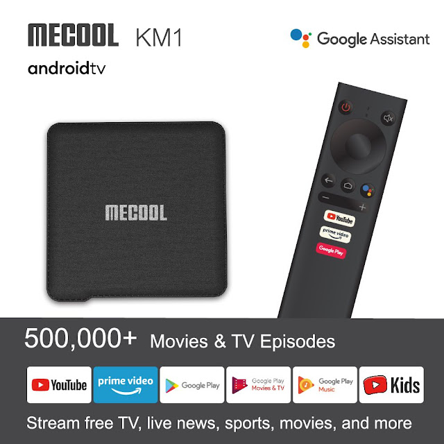The New MECOOL KM1 with Android TV 9.0 Certificate (S905X3/4GB/64GB)