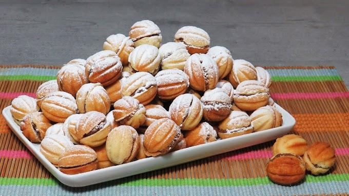 Nuci umplute cu cremă de Cacao