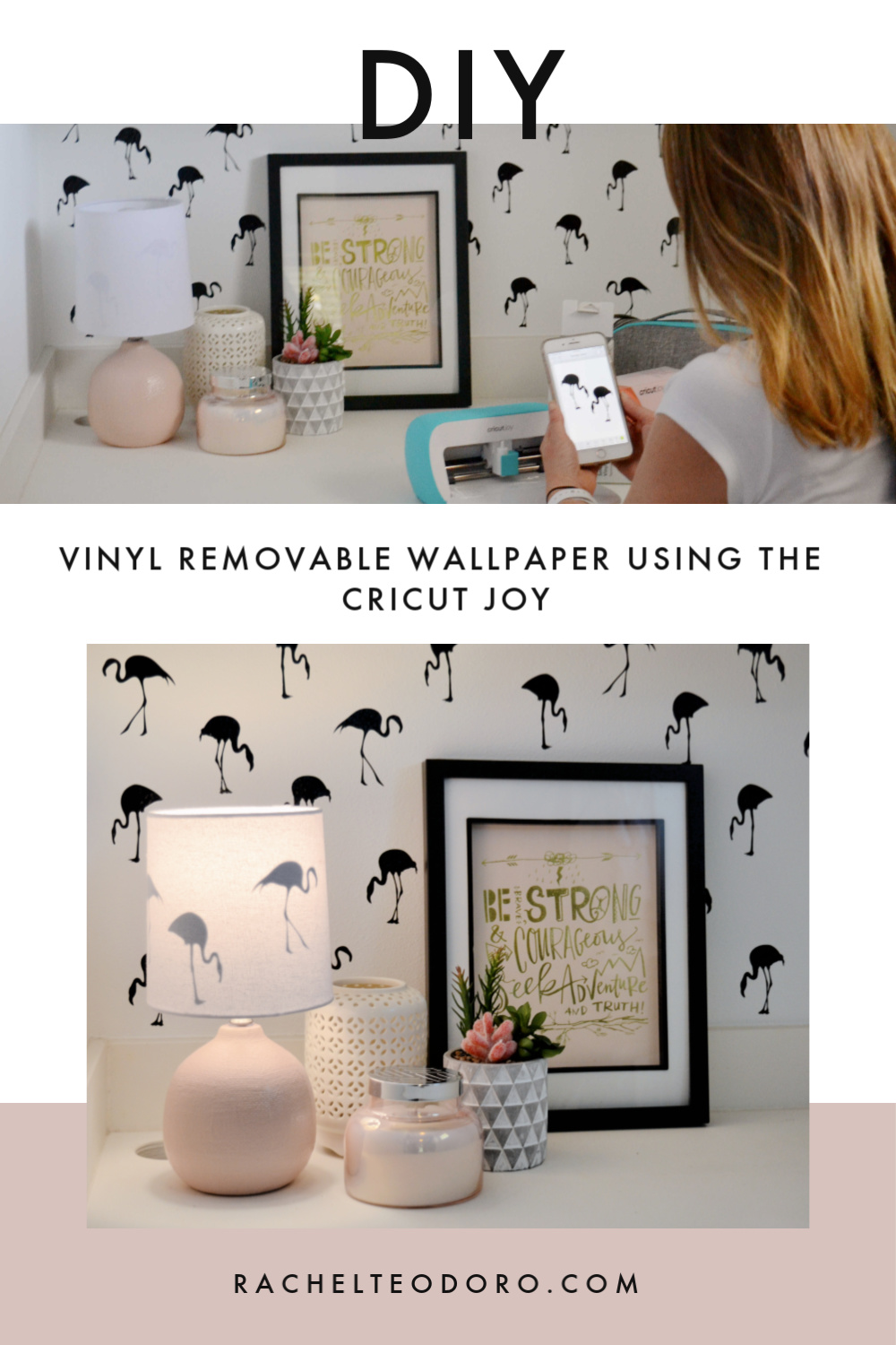 repeating pattern flamingo wallpaper