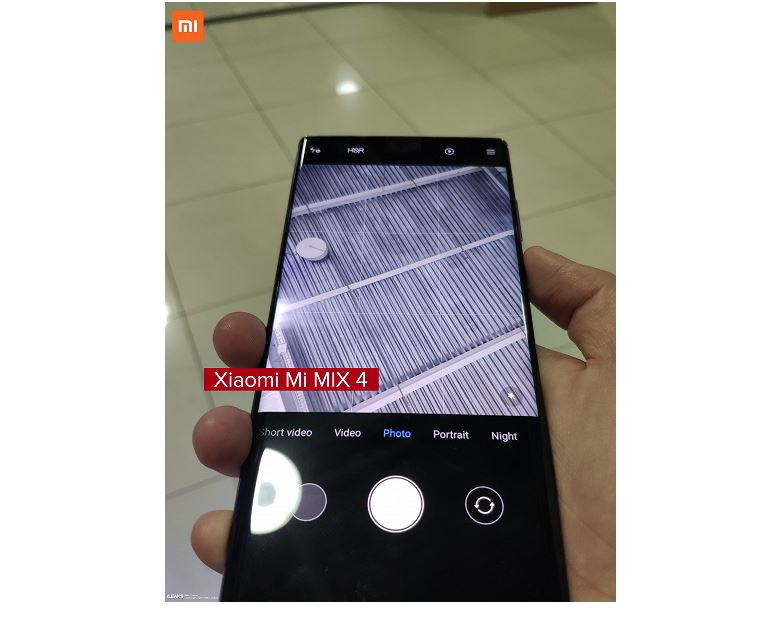 Live photos of the real Xiaomi Mi Mix 4 show the hidden camera